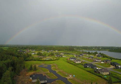 Rainbow over Spring Lake Ranch