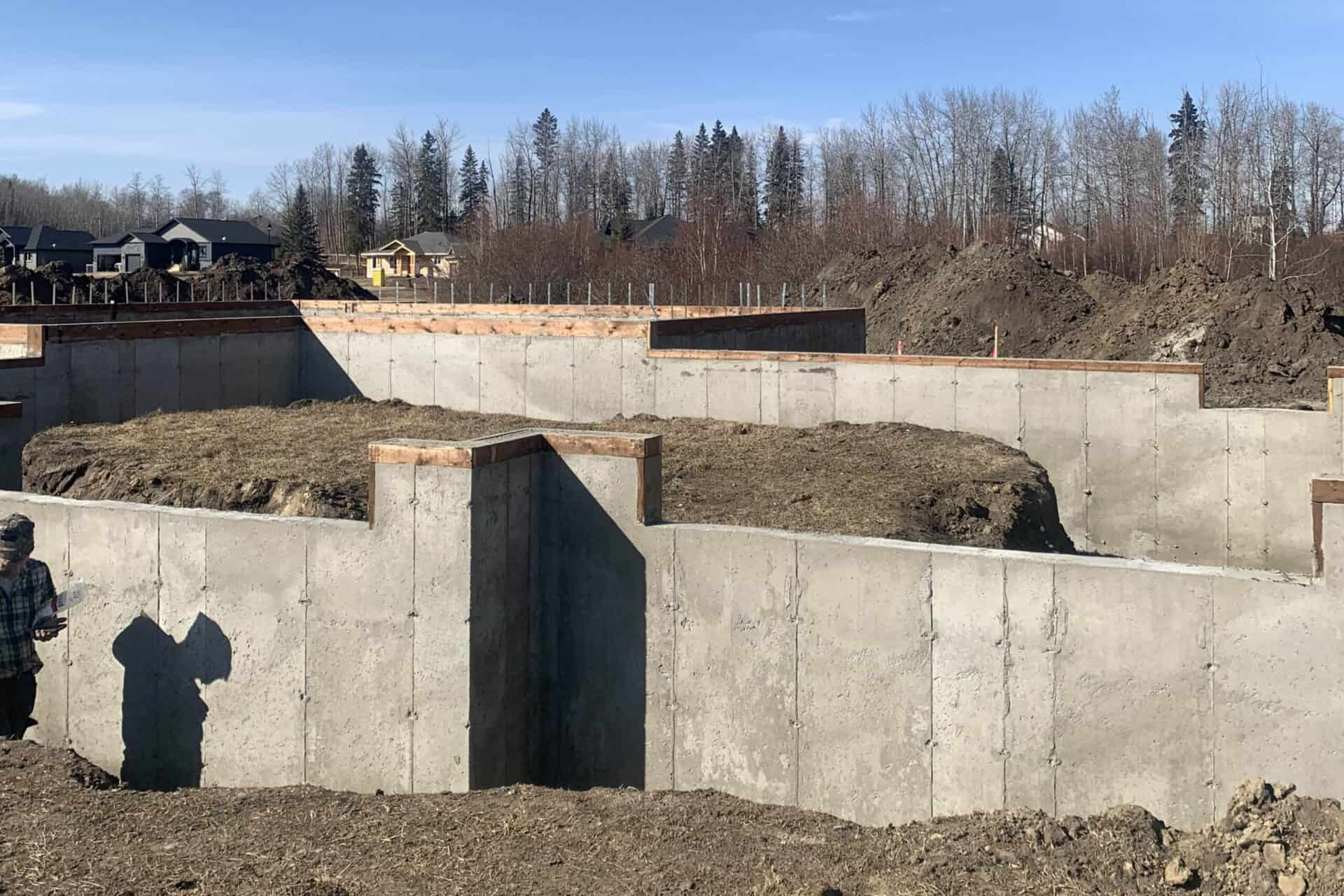 Willow View Foundation - Spring Lake Ranch Edmonton Home Under Construction